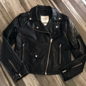 503ee053c8c Women s Vegan Leather Jacket Abercrombie on Poshmark